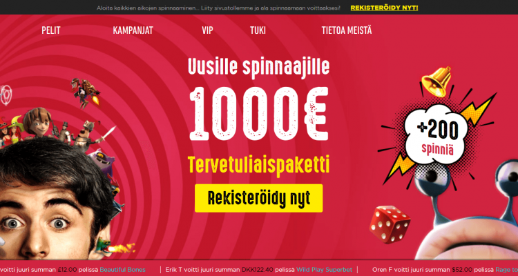 Spinit Casino arvostelu + bonus