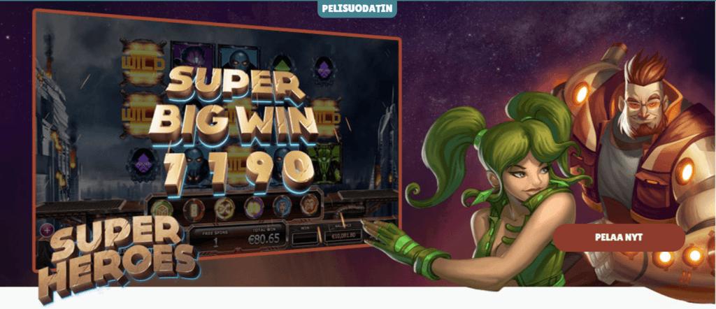 Cashmio Casinolla suuria voittoja