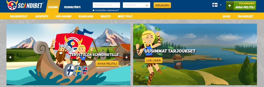 Scandibet on hyvä nettikasino
