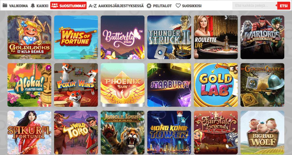 Scandibet tarjoaa kattavan valikoiman casinopelejä