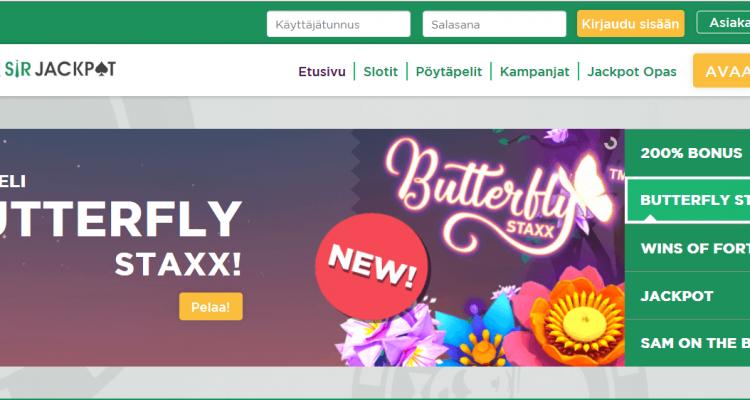 Sir Jackpot Casino kokemukset + bonus