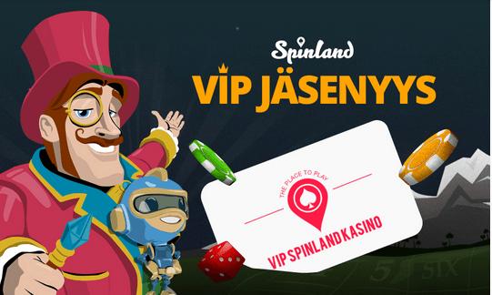 Spinland casino tarjoaa myös VIP - jäsenyyden