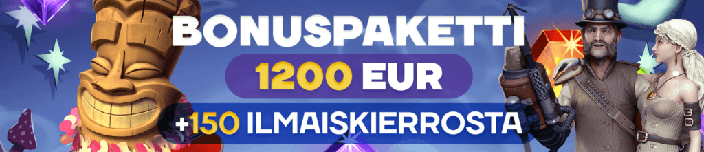1200 euroa ja 150 ilmaiskierrosta Lokin kasinobonuksella