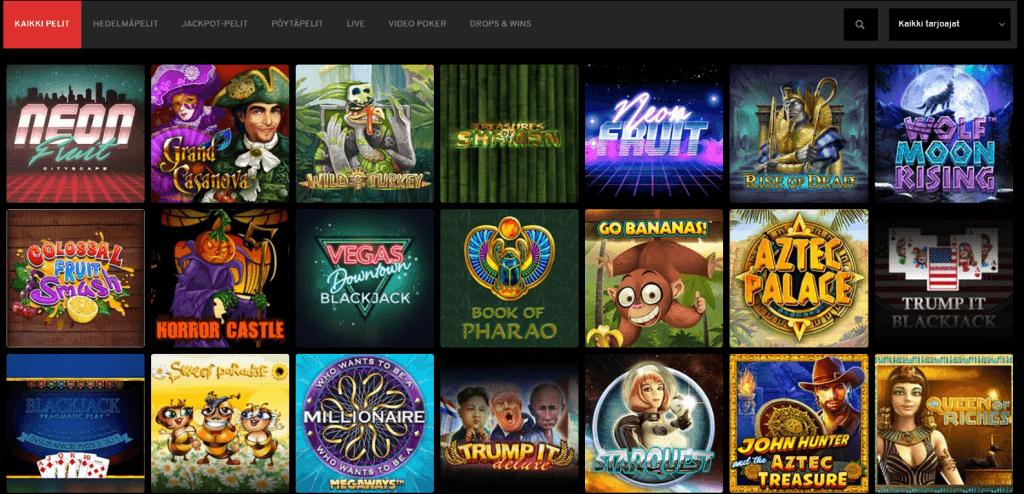 Jopa 4000 eri casinopeliä N1 Casinolla