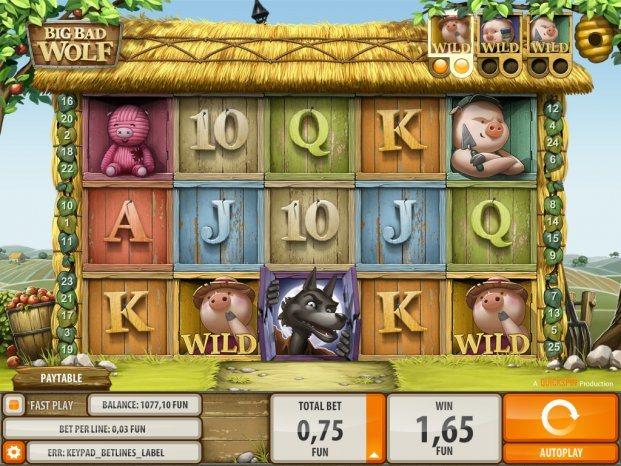 Pelaa Quickspinin Big Bad Wolf peliä CasinoEurolla