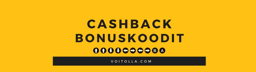 Cashback Bonuskoodit