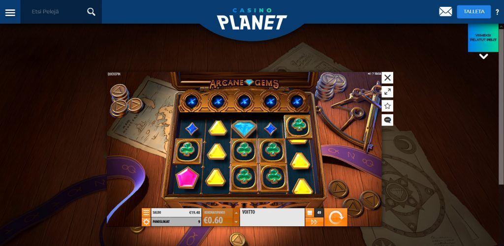Uutuuspeli Casino Planetilla