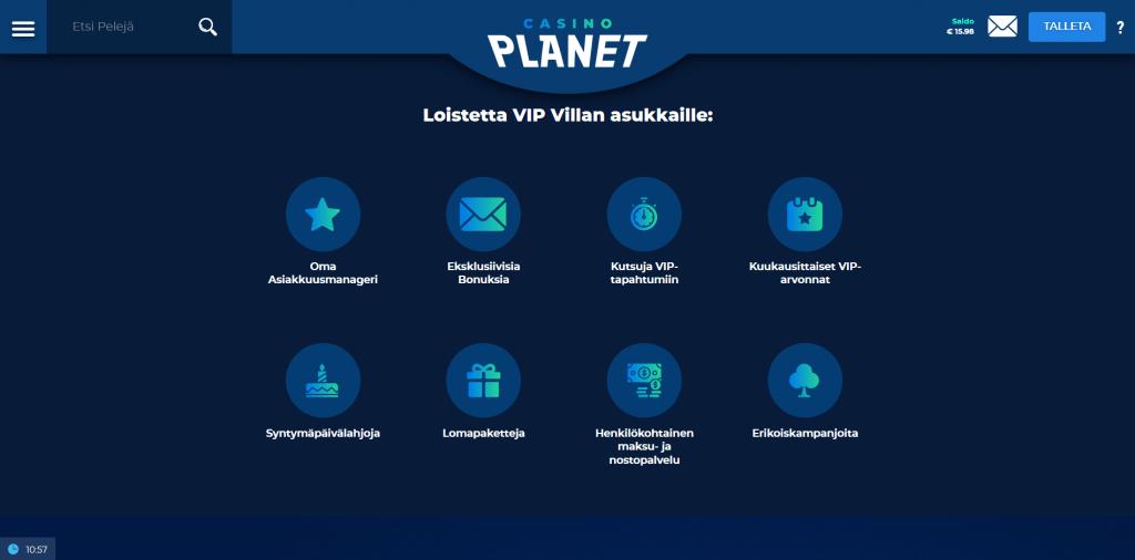 VIP Klubi Casino Planetilla