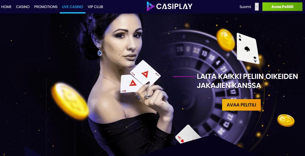 Suosittu Live Casino löytyy myös Casiplay netticasinolta