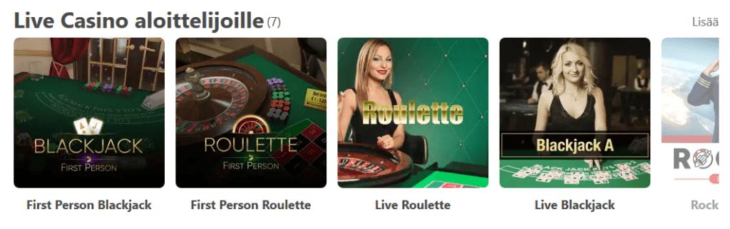 Live Casino on nykyään suosituimpia peliryhmiä nettcasinoilla