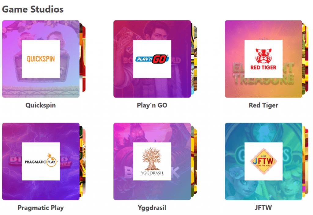 Pelinvalmistajia on melkein 30 kappaletta Dreamz kasinolla