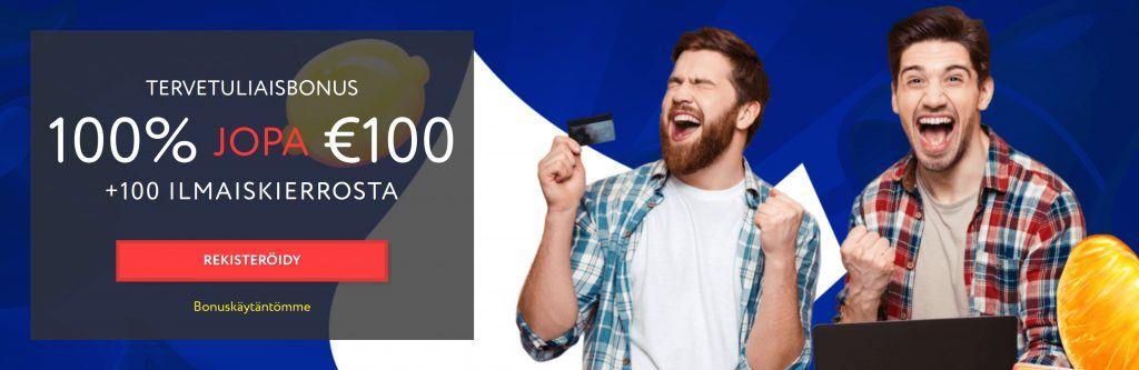 Euslot uuden pelaajan bonus