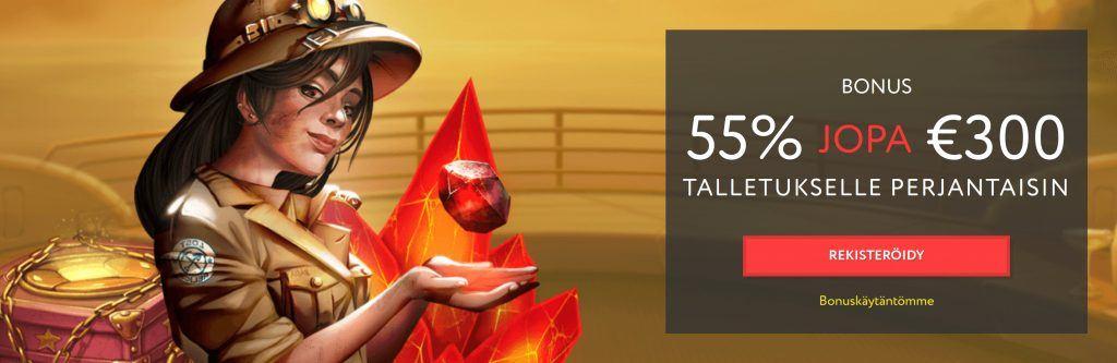 55% uudelleentalletusbonus Euslot casinolla