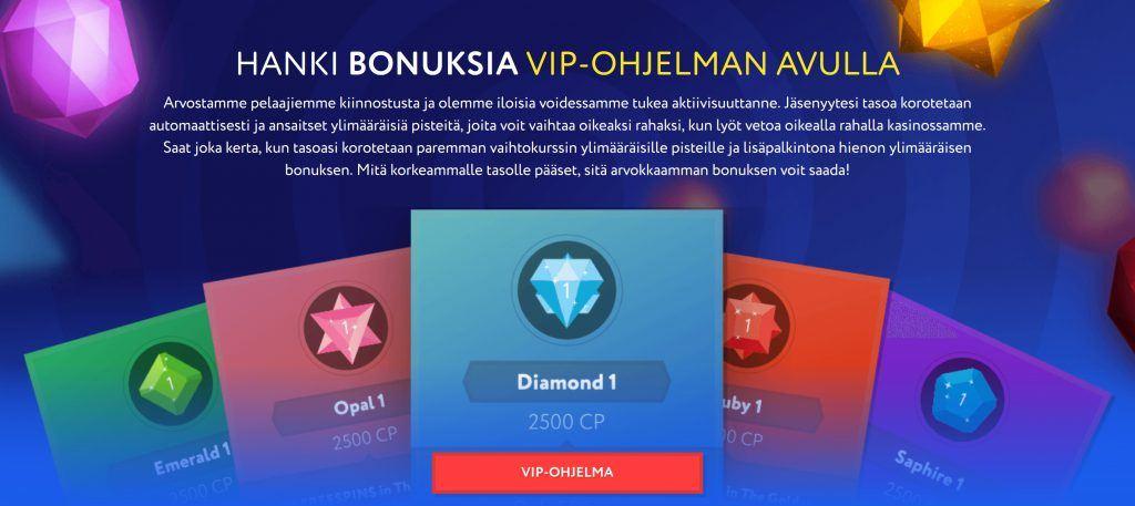 Euslot kasinon VIP ohjelma