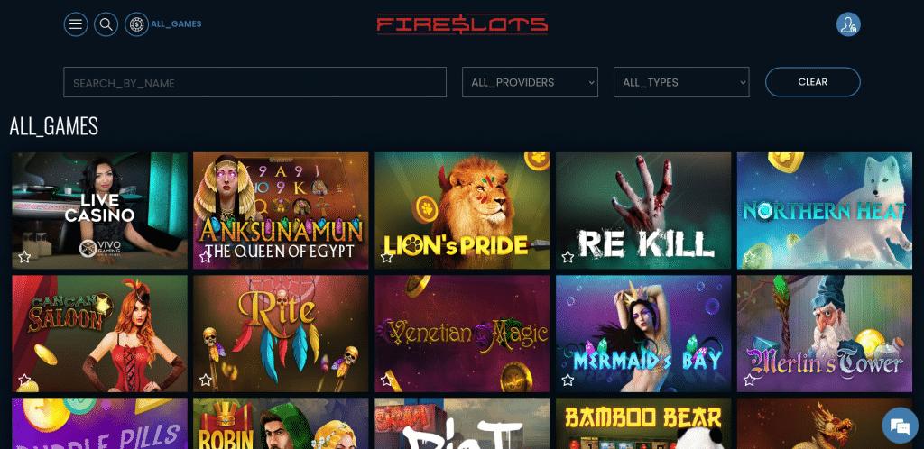 Fireslots Casino Pelit