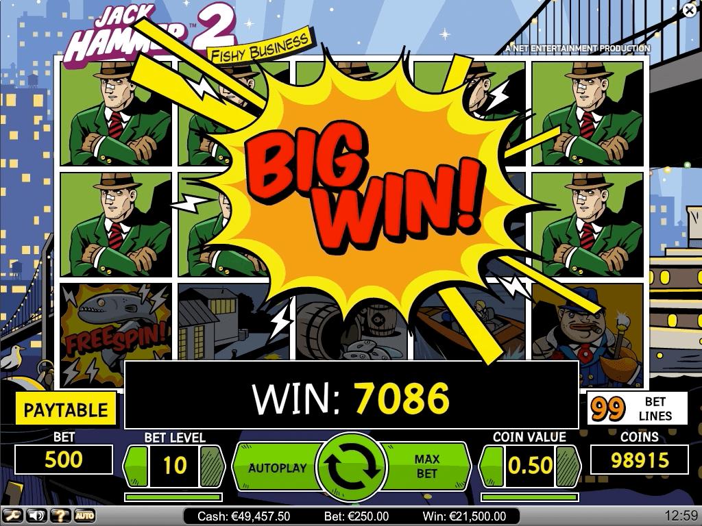 Jack Hammer 2 tarjoaa suuria voittoja, vaikkei niitä jättipoteiksi voikaan kutsua