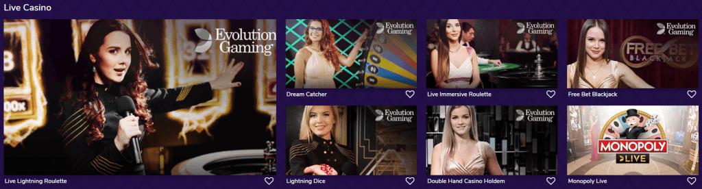 Livecasino on suuressa roolissa livelounge casinolla