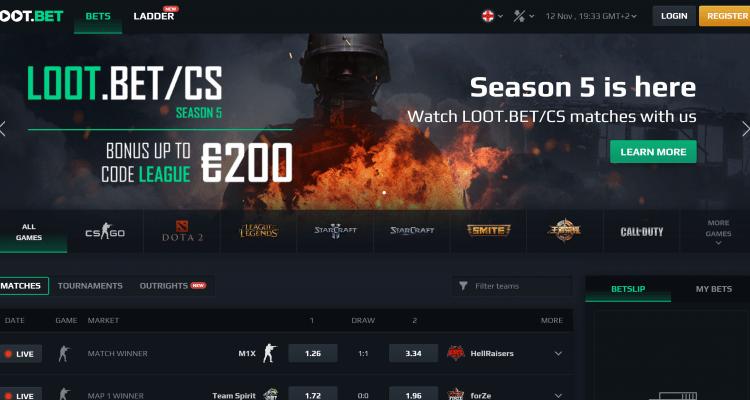 Loot Bet eSports Vedonlyönti