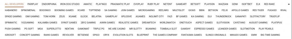 Uskomaton määrä eri pelivalmistajia Melbet casinolla