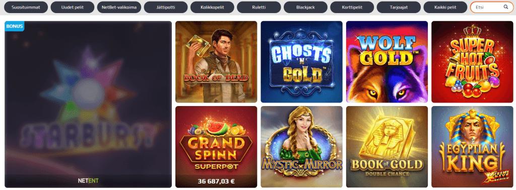 Yli 1000 kolikkopeliä Netbet casinolla