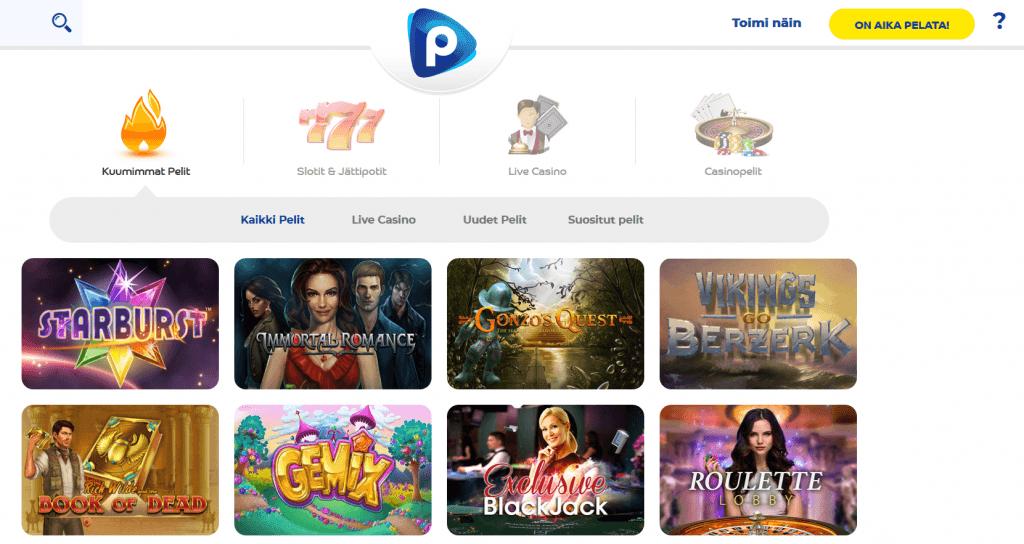 Pelaa.com casinon hurja pelivalikoima ei jätä ketään kylmäksi