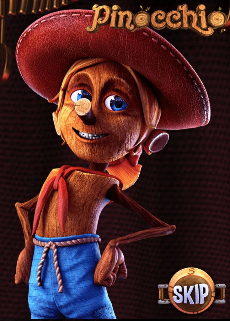 Pinocchio on Betsoftin kolikkopeli