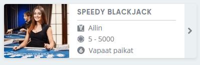 Speedy Blackjack