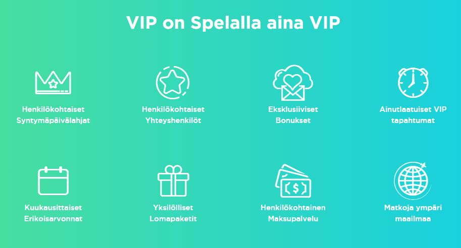VIP kampanajat Spela kasinolla