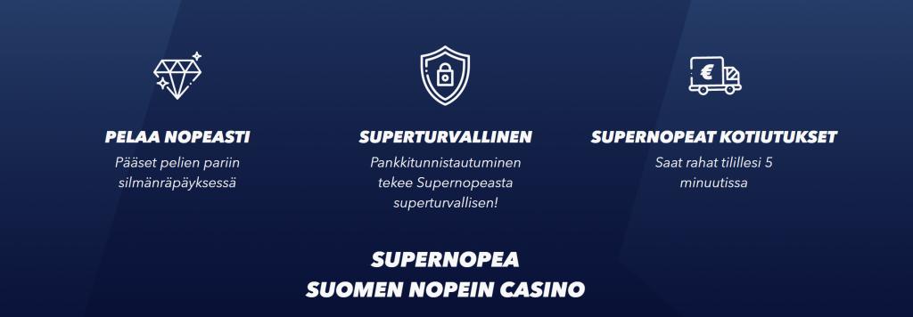 Kokemukset SuperNopean bonuksista ovat olemattomat - mutta nostot tilille 5 minuutissa
