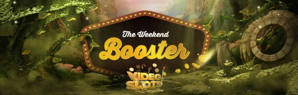 Weekend Booster Cashback kampanja Videoslots casinolla