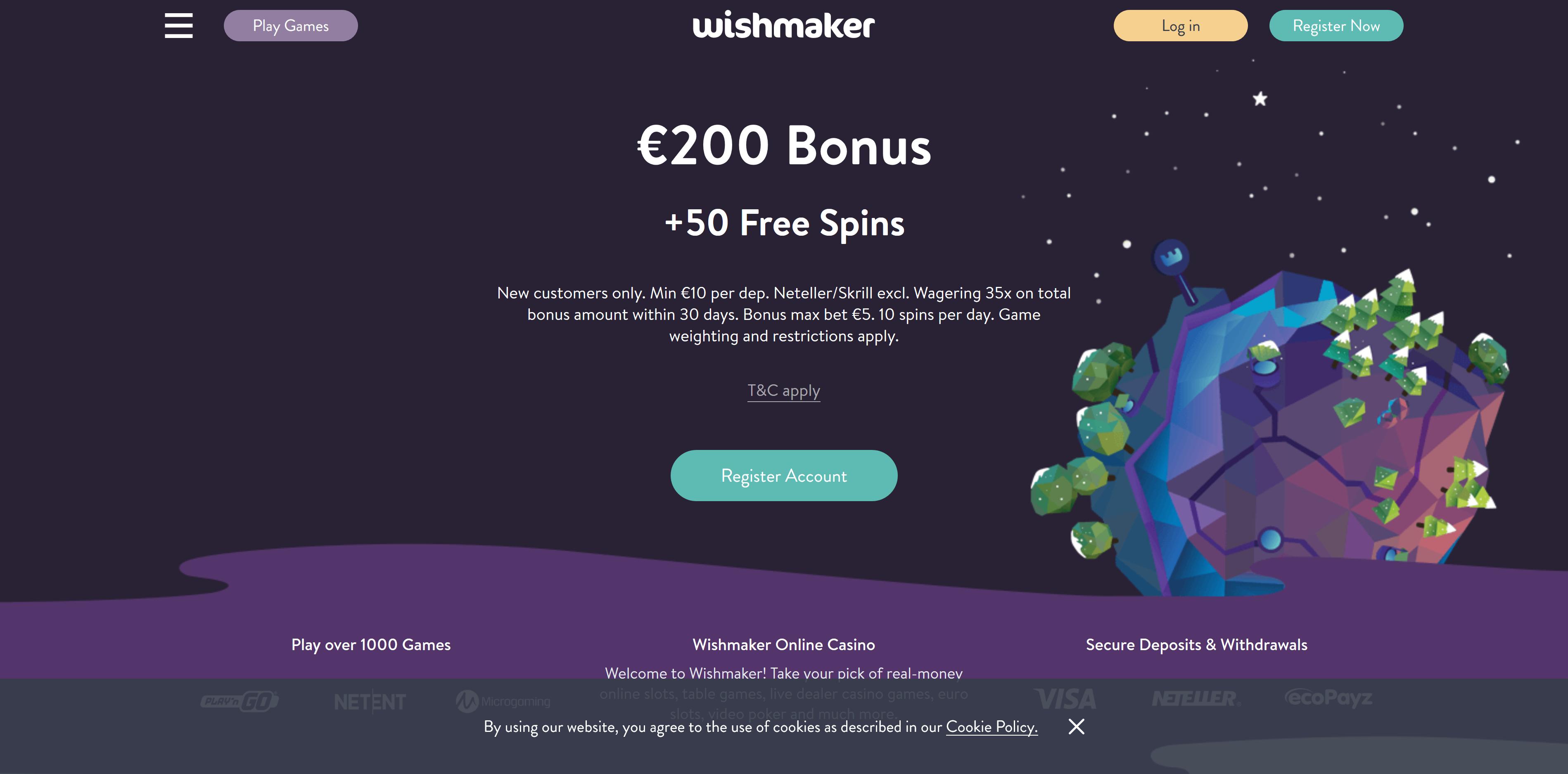Wishmaker kasino avaa ovensa pian